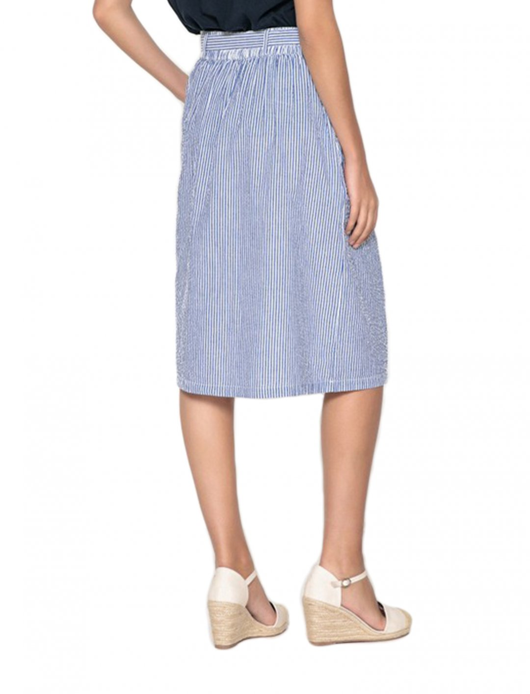 "Striped Skirt {""id"":5,""product_section_id"":1,""name"":""Clothing"",""order"":5} ANNE WEYBURN"