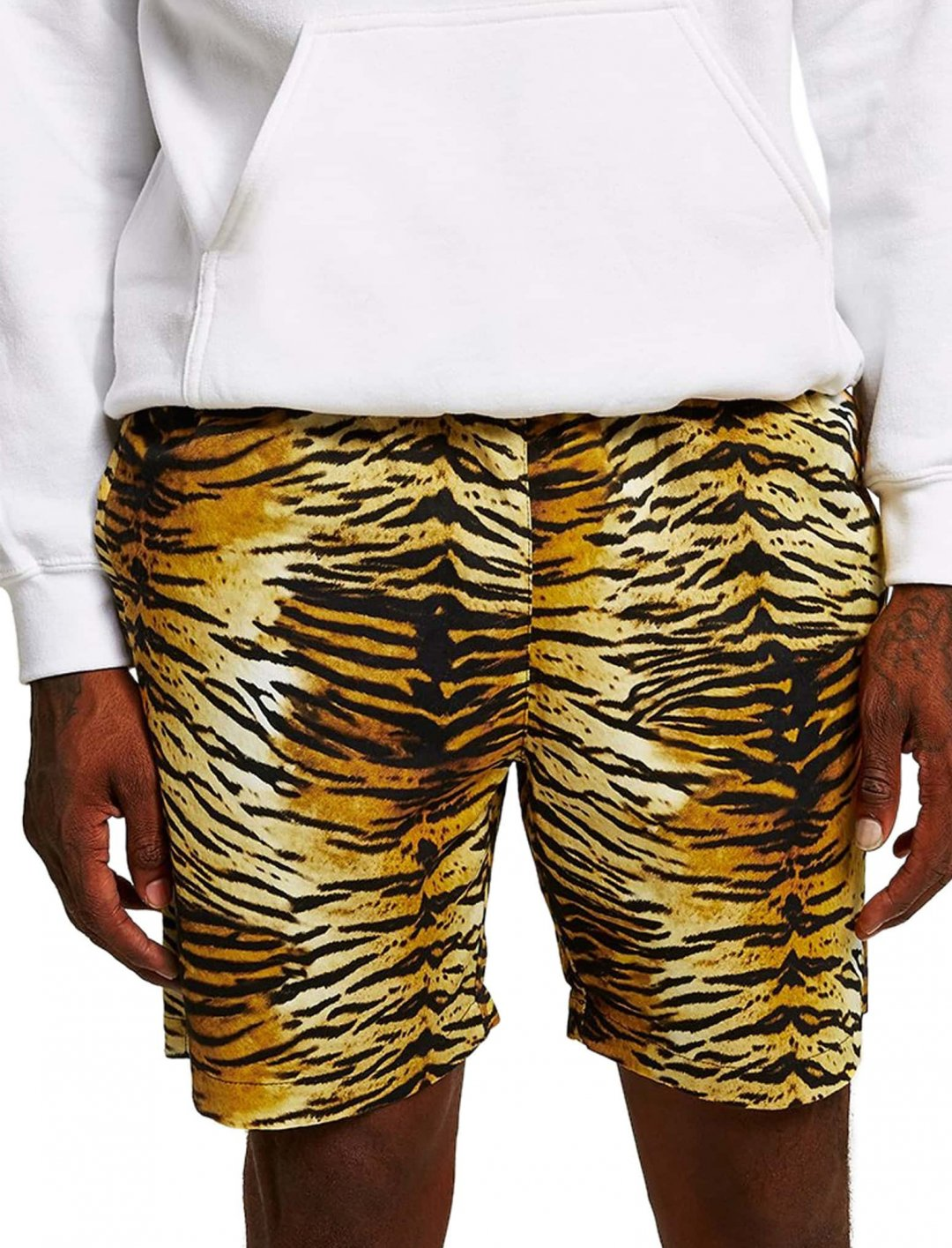 "Lil Wayne's Tiger Print Shors {""id"":5,""product_section_id"":1,""name"":""Clothing"",""order"":5} Topman"