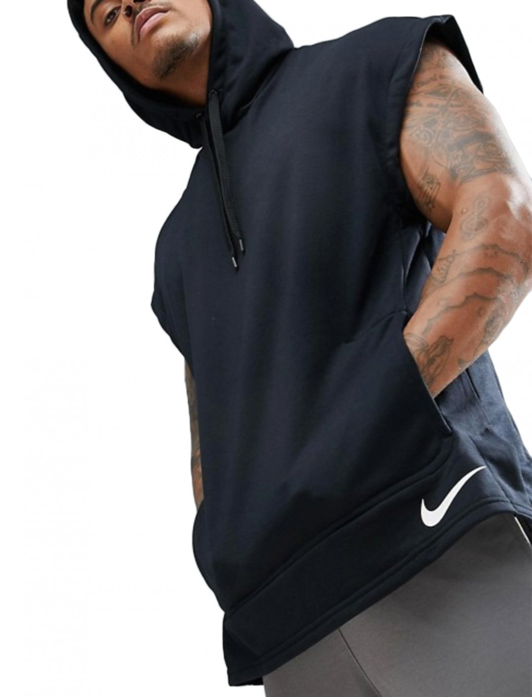 "Sleeveless Hoodie In Black {""id"":5,""product_section_id"":1,""name"":""Clothing"",""order"":5} Nike Training"