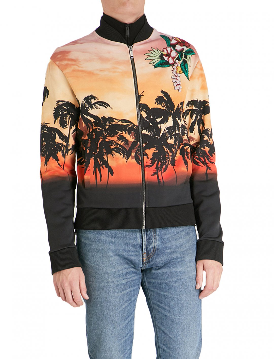 "Swizz Beatz' Palm Print Jacket {""id"":5,""product_section_id"":1,""name"":""Clothing"",""order"":5} Valentino"