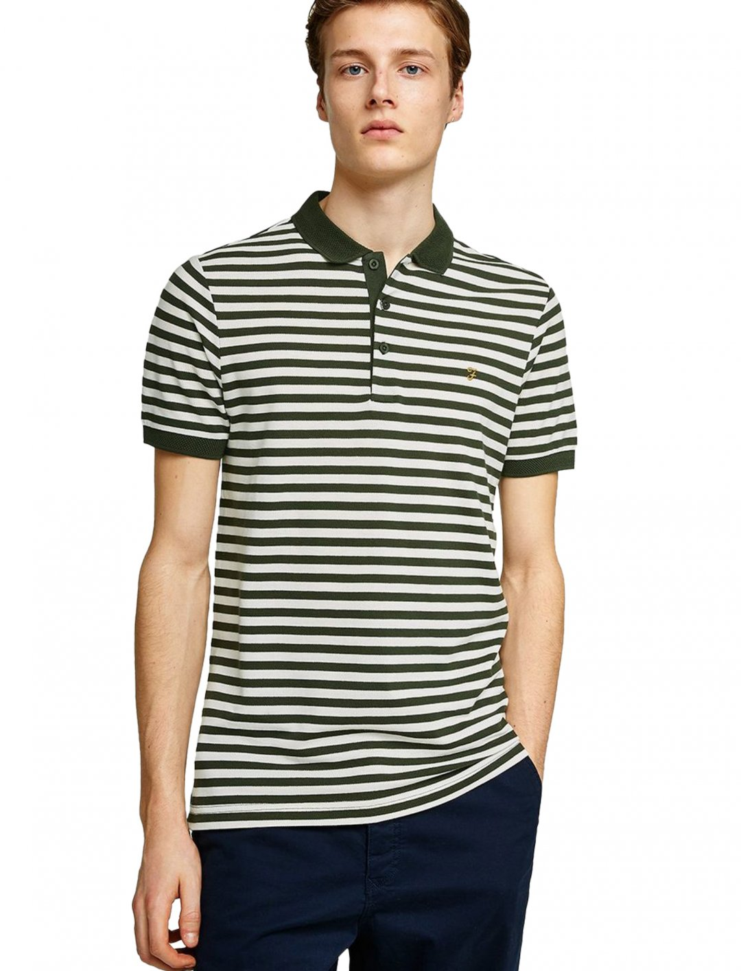 "Farah Stripe Polo {""id"":5,""product_section_id"":1,""name"":""Clothing"",""order"":5} Farah"