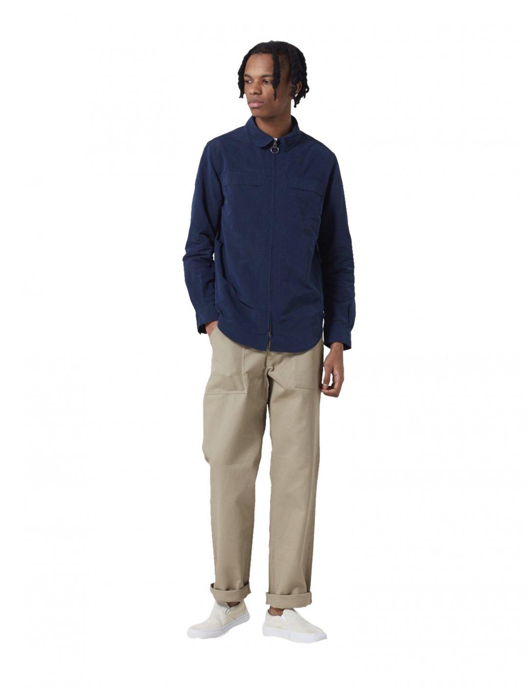 """Hoad Zip Overshirt {""""id"""":5,""""product_section_id"""":1,""""name"""":""""Clothing"""",""""order"""":5} Barbour"""