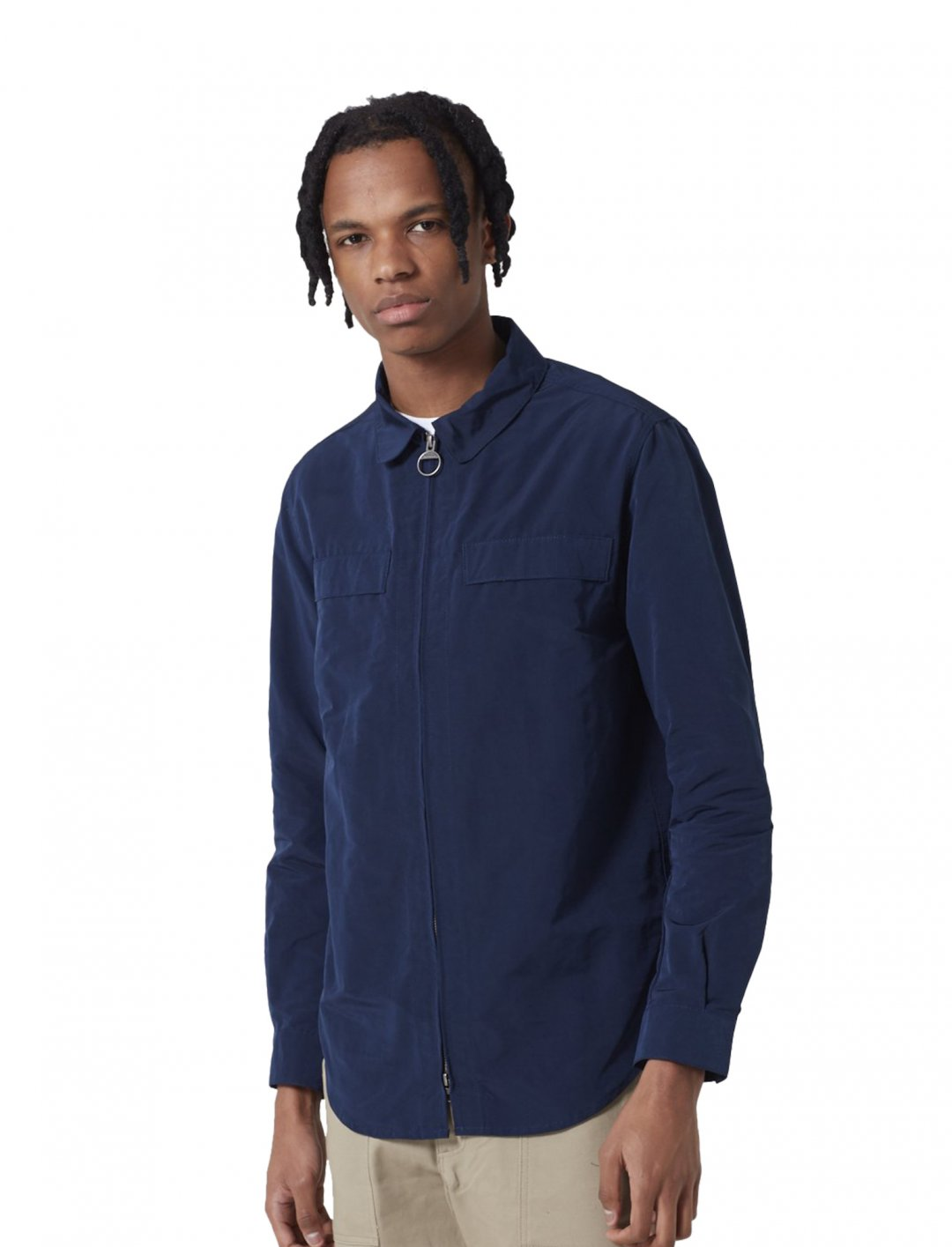 "Hoad Zip Overshirt {""id"":5,""product_section_id"":1,""name"":""Clothing"",""order"":5} Barbour"