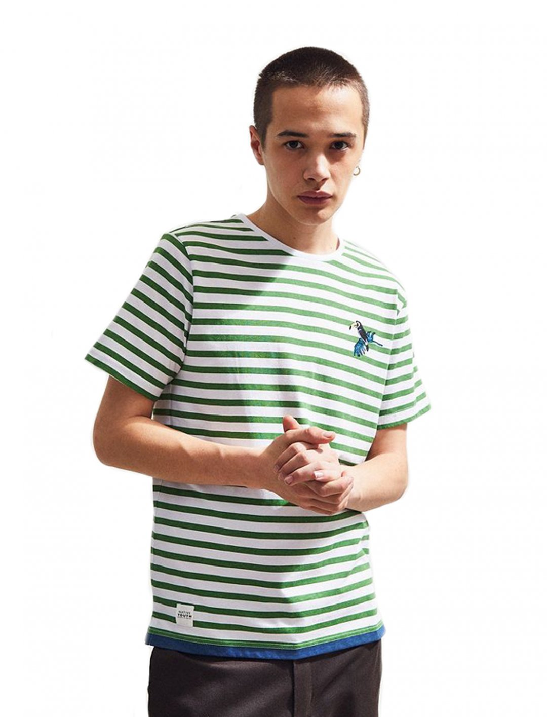 """Native Youth Stripe Tee {""""id"""":5,""""product_section_id"""":1,""""name"""":""""Clothing"""",""""order"""":5} Native Youth"""