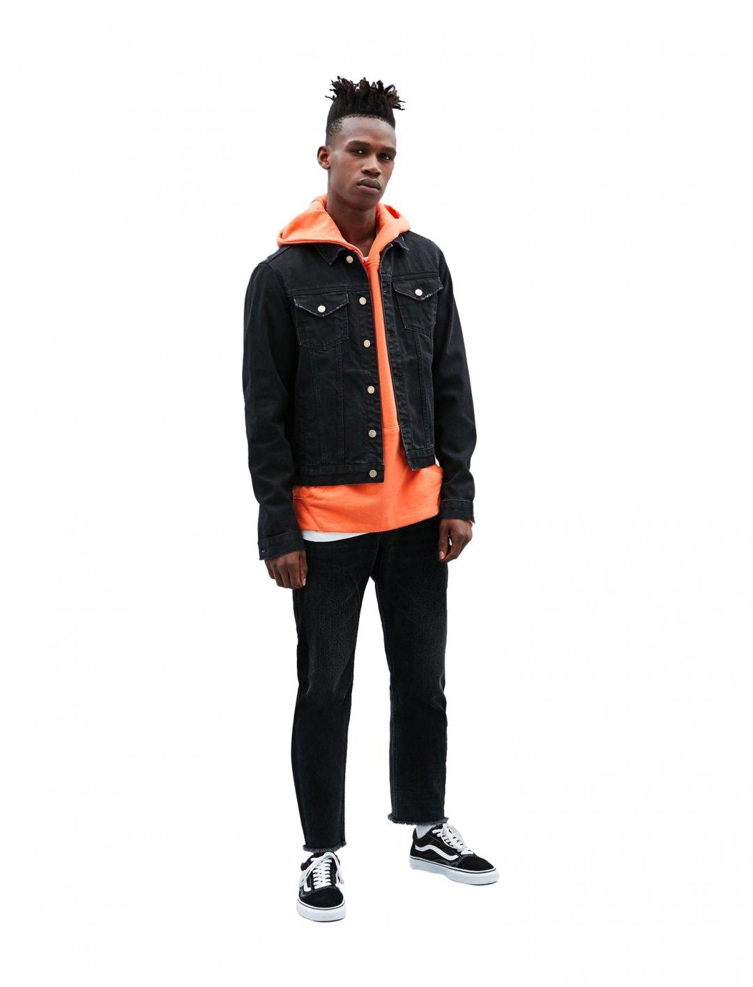 "Orange Regular Overhead Hoodie {""id"":5,""product_section_id"":1,""name"":""Clothing"",""order"":5} Mennace"