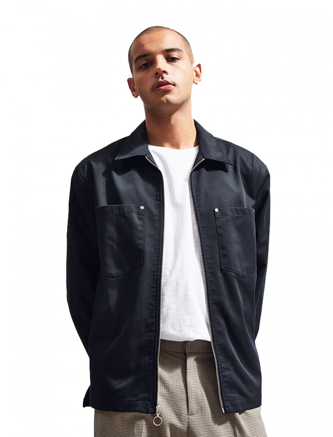 "UO Utility Zip Over Shirt {""id"":5,""product_section_id"":1,""name"":""Clothing"",""order"":5} Urban Oufitters"