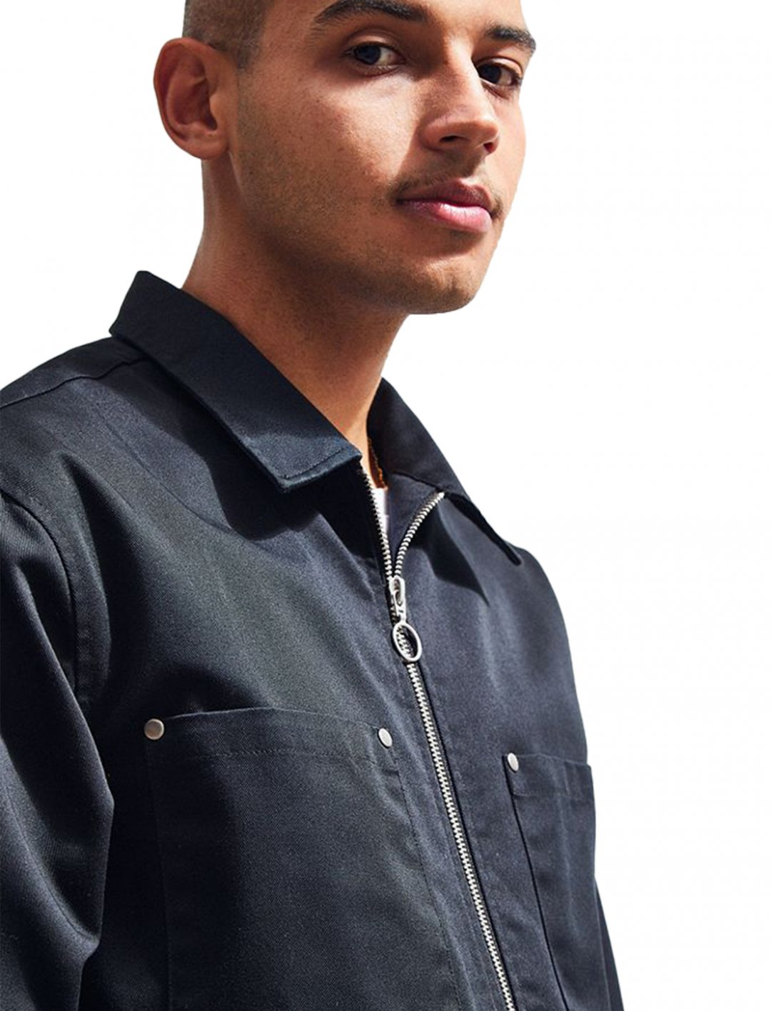 """UO Utility Zip Over Shirt {""""id"""":5,""""product_section_id"""":1,""""name"""":""""Clothing"""",""""order"""":5} Urban Oufitters"""