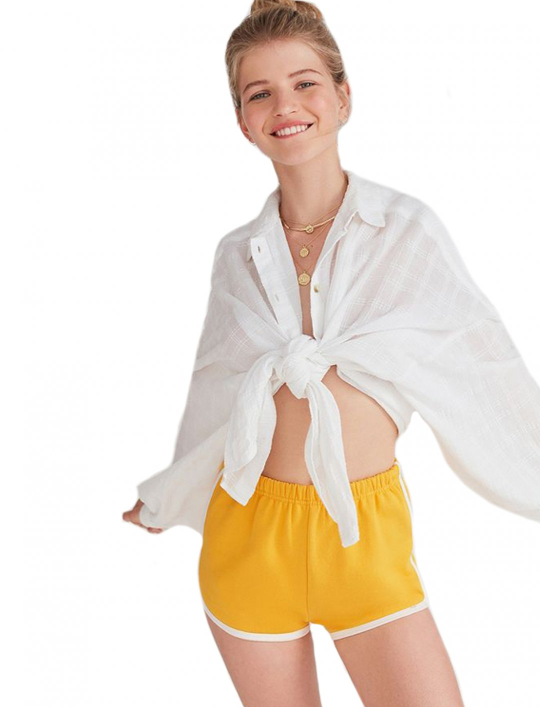 "Urban Oufitters Yellow Shorts {""id"":5,""product_section_id"":1,""name"":""Clothing"",""order"":5} Urban Oufitters"