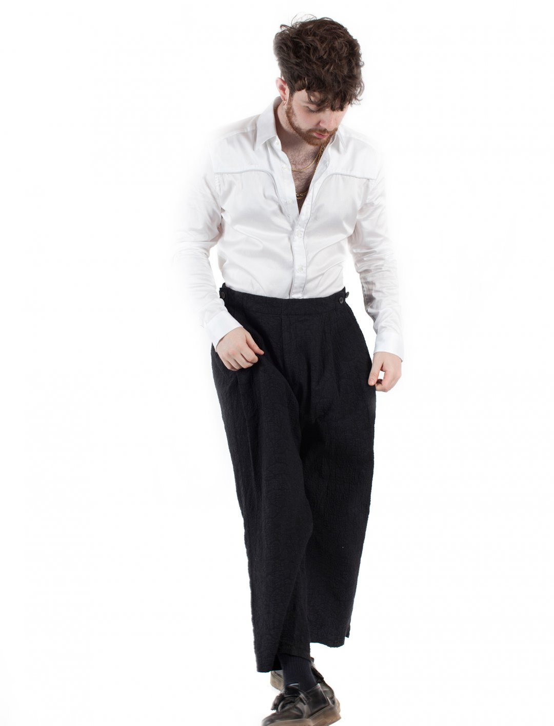 """Tom Grennan's Black Trousers {""""id"""":5,""""product_section_id"""":1,""""name"""":""""Clothing"""",""""order"""":5} Alexander Wang"""
