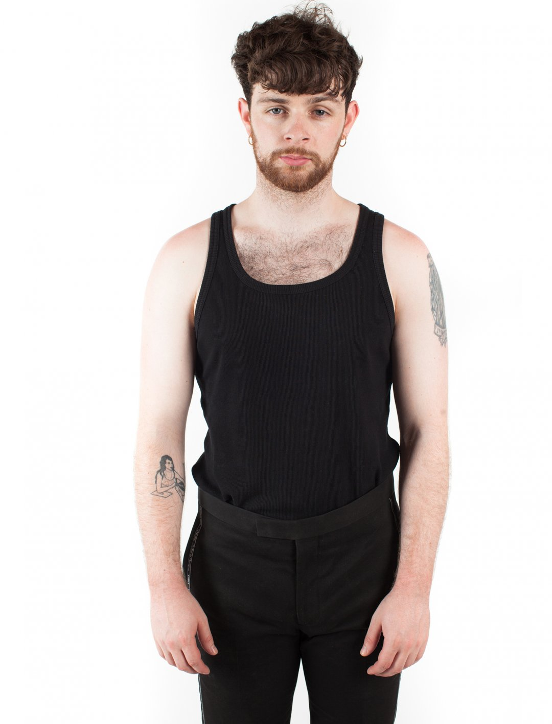 """Tom Grennan's Black Vest {""""id"""":5,""""product_section_id"""":1,""""name"""":""""Clothing"""",""""order"""":5} Topman"""