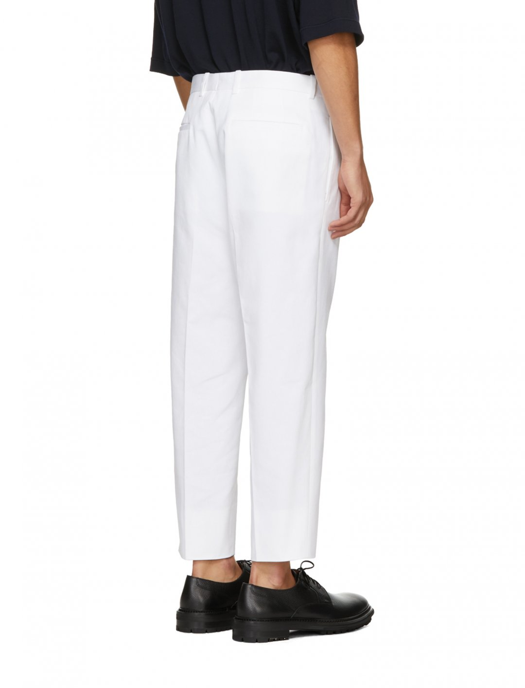 """Tom Grennan's White Preston Trousers {""""id"""":5,""""product_section_id"""":1,""""name"""":""""Clothing"""",""""order"""":5} Jil Sander"""
