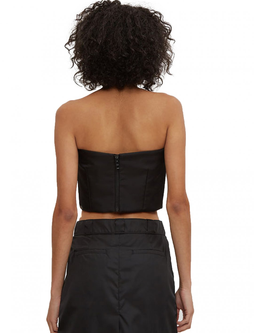 "Black Bustier Top {""id"":5,""product_section_id"":1,""name"":""Clothing"",""order"":5} Prada"