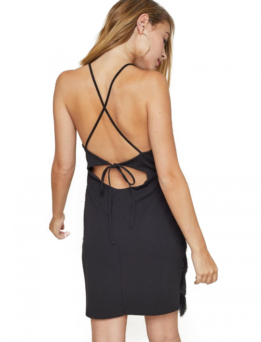 "Black Feather Slip Dress {""id"":5,""product_section_id"":1,""name"":""Clothing"",""order"":5} Miss Selfridge"