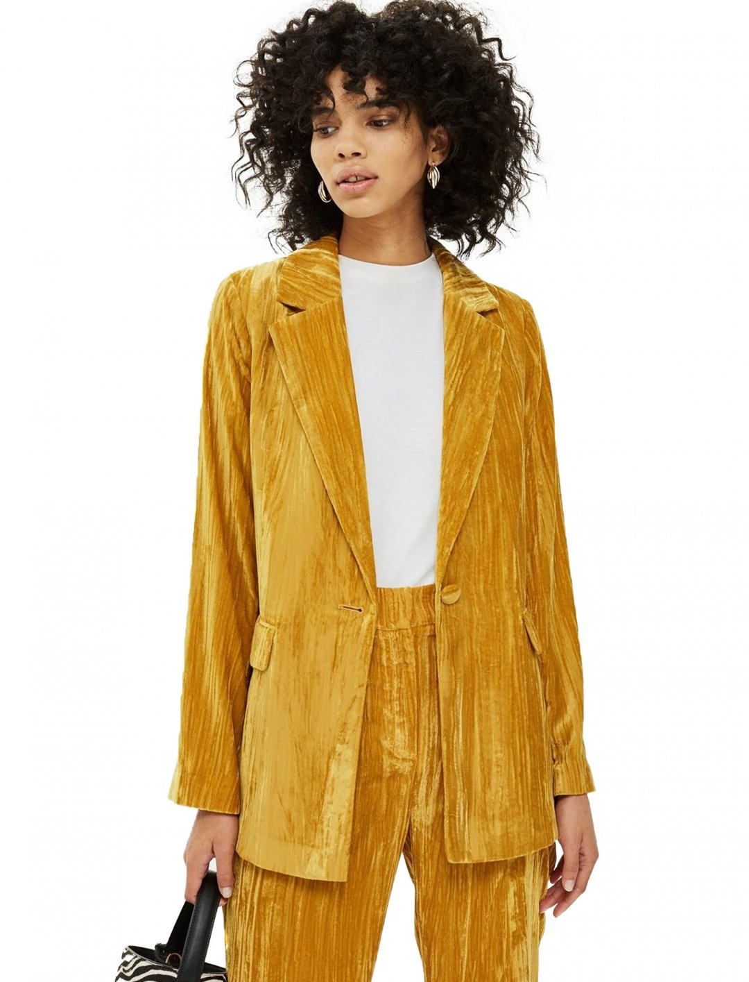 "Crinkle Velvet Jacket {""id"":5,""product_section_id"":1,""name"":""Clothing"",""order"":5} Topshop"
