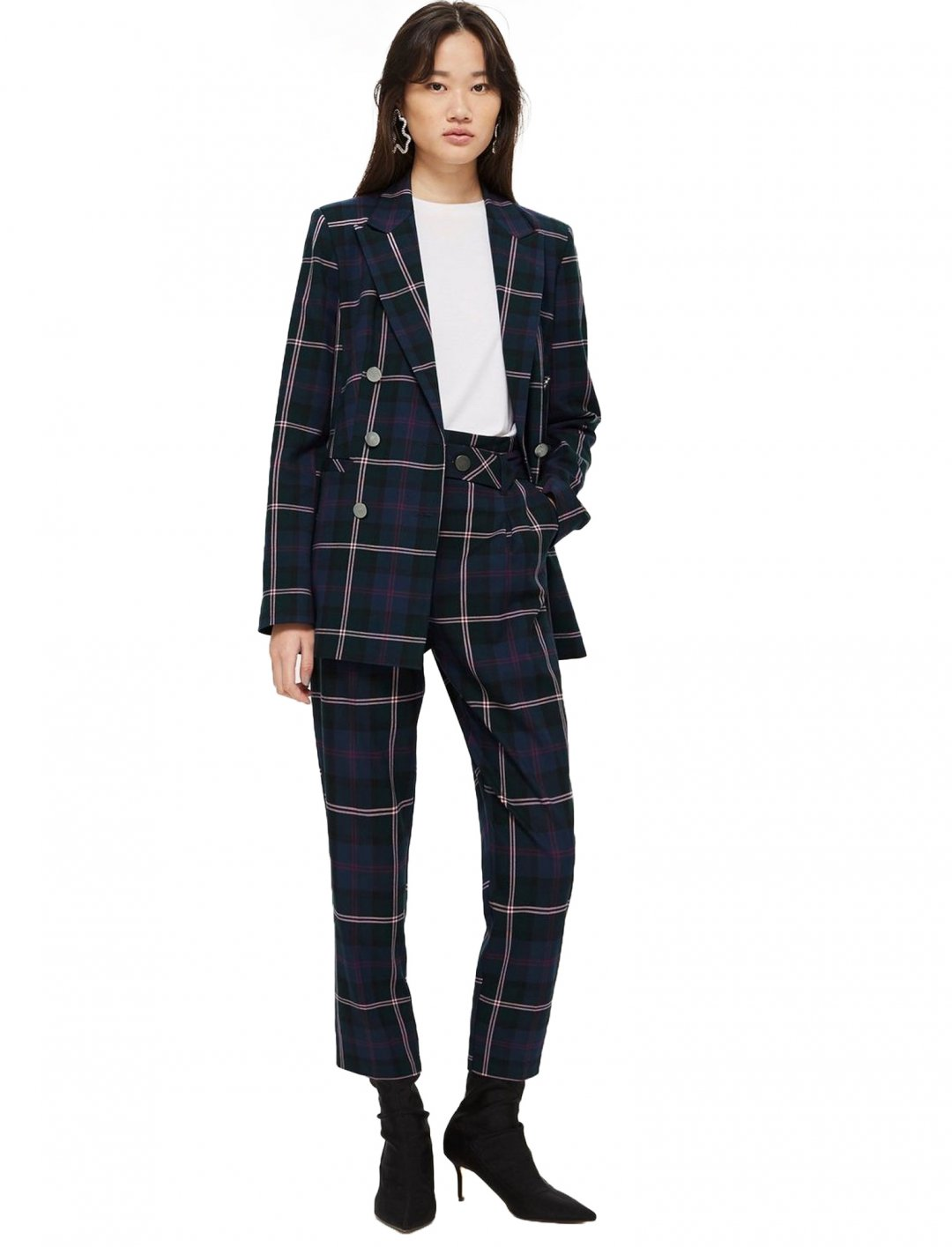"Double Breasted Check Jacket {""id"":5,""product_section_id"":1,""name"":""Clothing"",""order"":5} Topshop"
