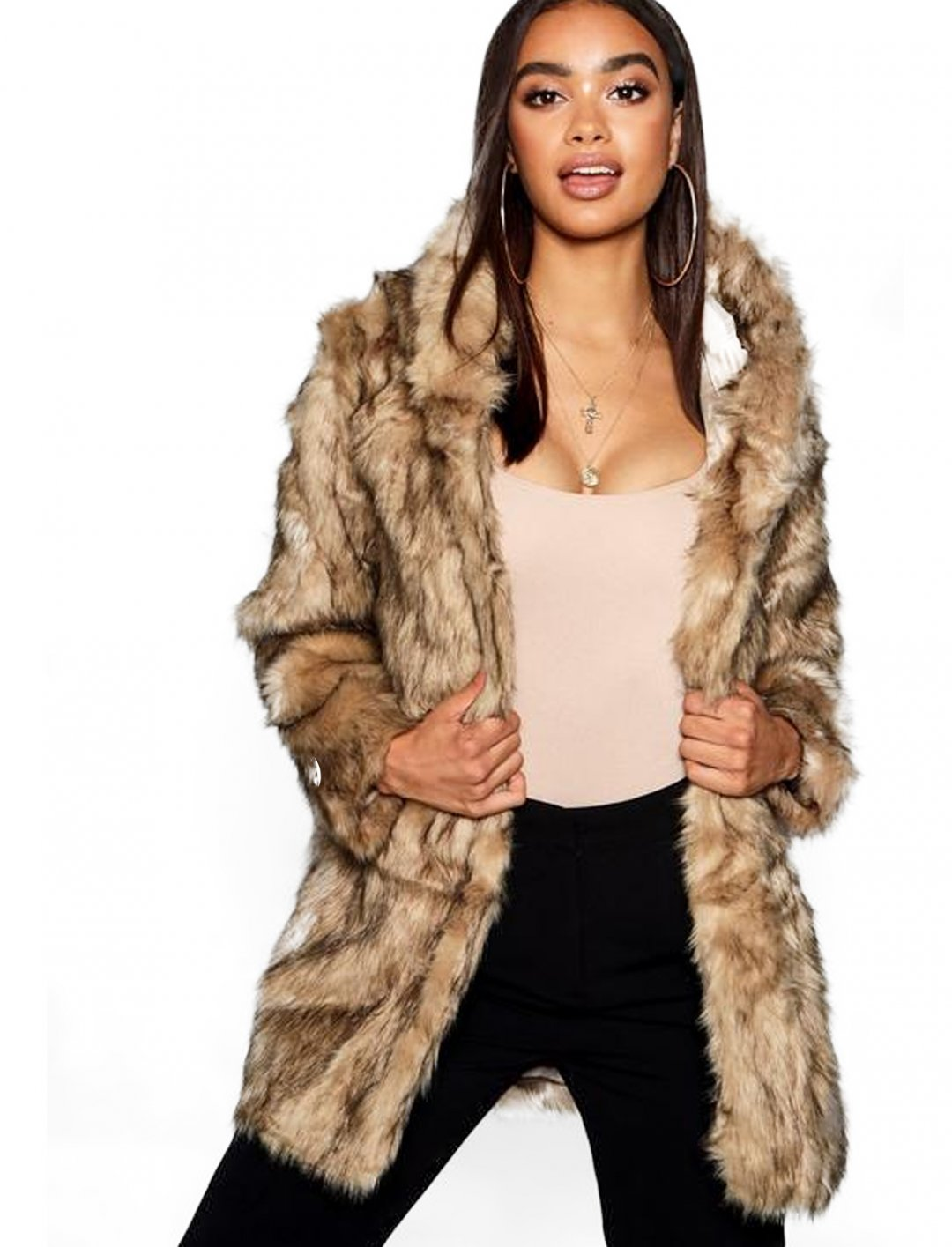 "Faux Fur Coat {""id"":5,""product_section_id"":1,""name"":""Clothing"",""order"":5} Boohoo"