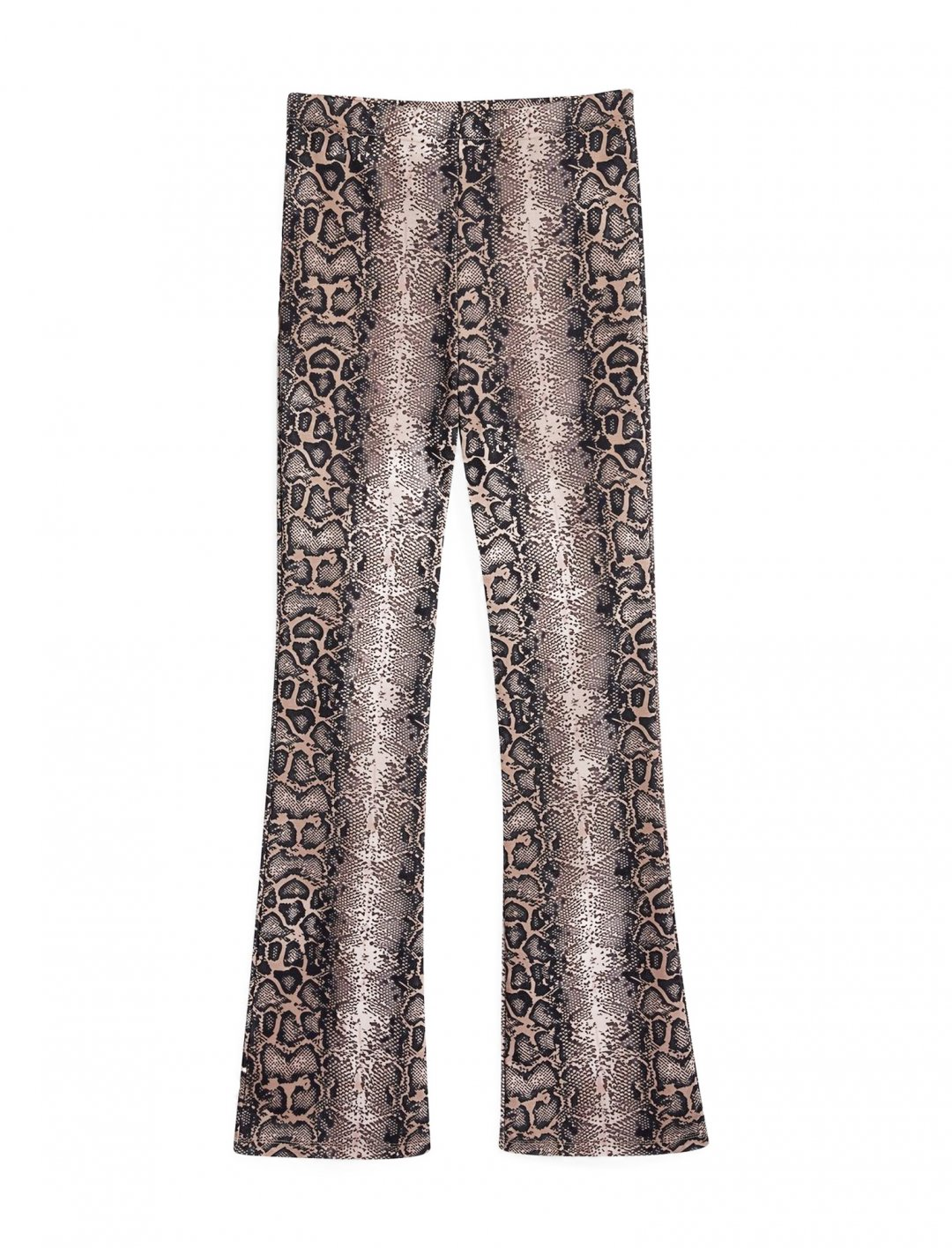"Faux Snakeskin Flare Trousers {""id"":5,""product_section_id"":1,""name"":""Clothing"",""order"":5} We Own The Night"