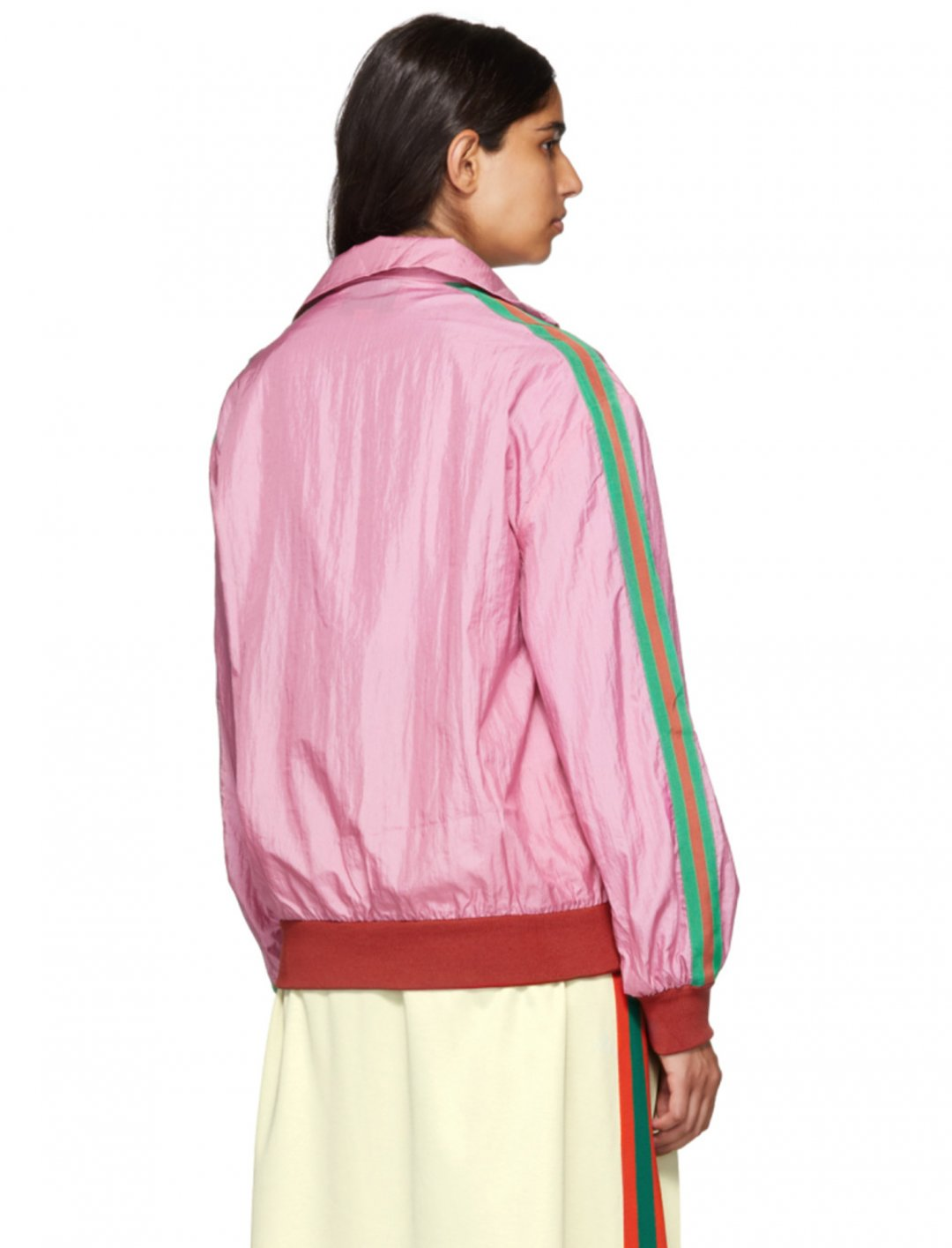 "Pink GG Logo Track Jacket {""id"":5,""product_section_id"":1,""name"":""Clothing"",""order"":5} Gucci"