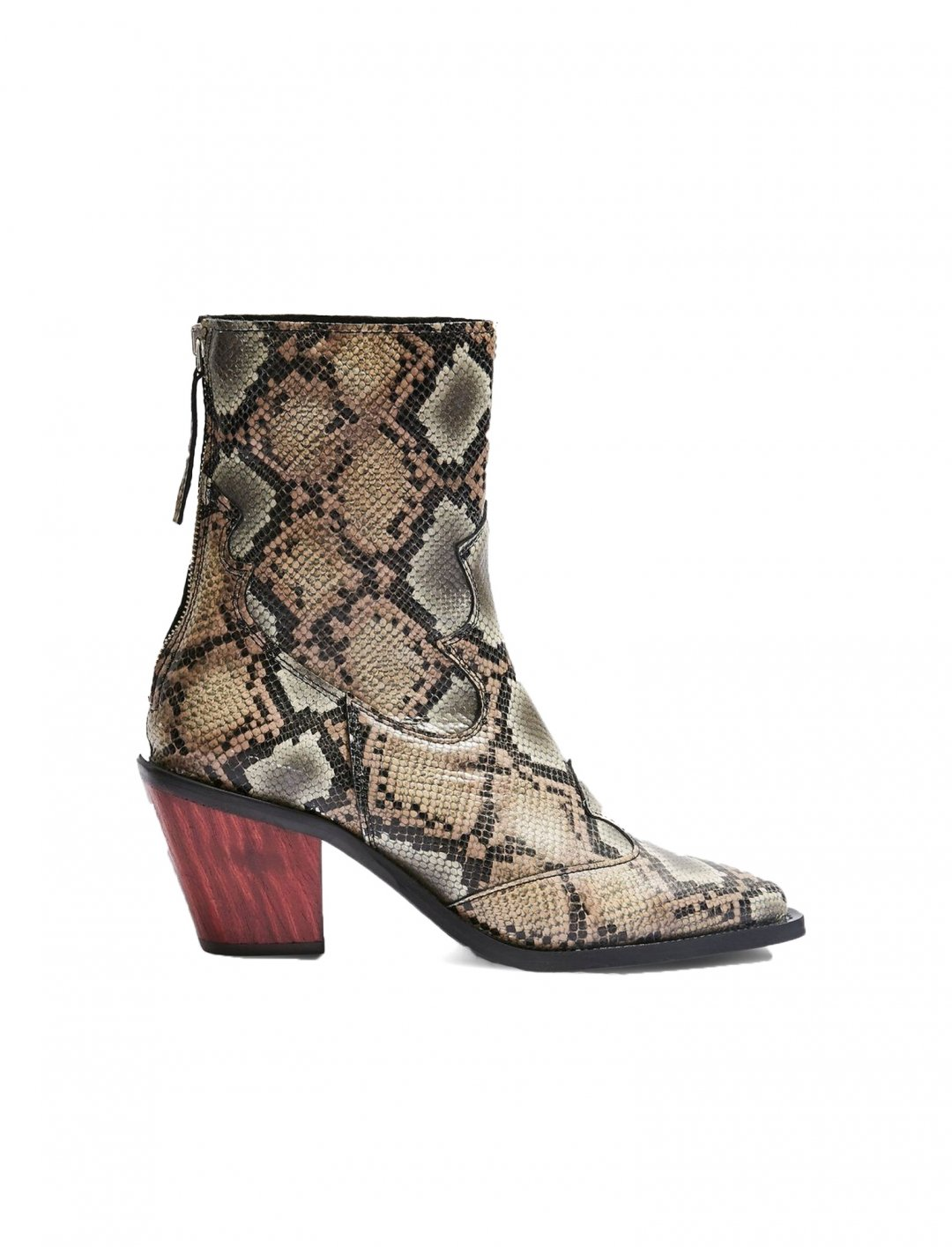 "Snake Effect Ankle Boots {""id"":12,""product_section_id"":1,""name"":""Shoes"",""order"":12} Topshop"