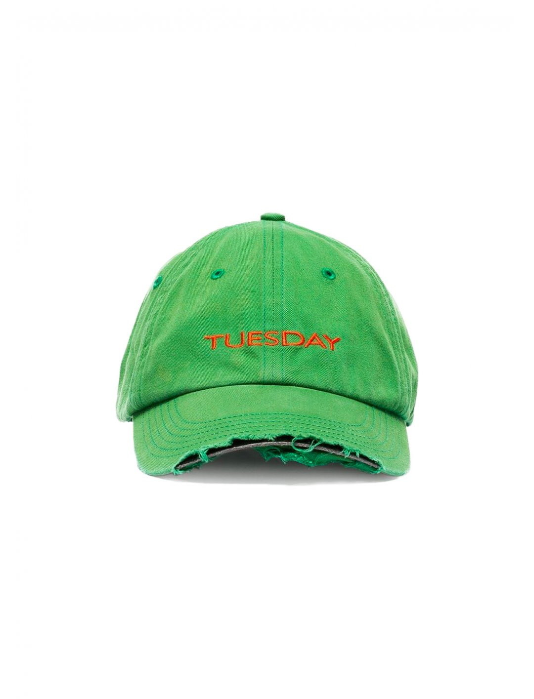 "Tuesday Embroidered Baseball Cap {""id"":16,""product_section_id"":1,""name"":""Accessories"",""order"":15} Vetements"