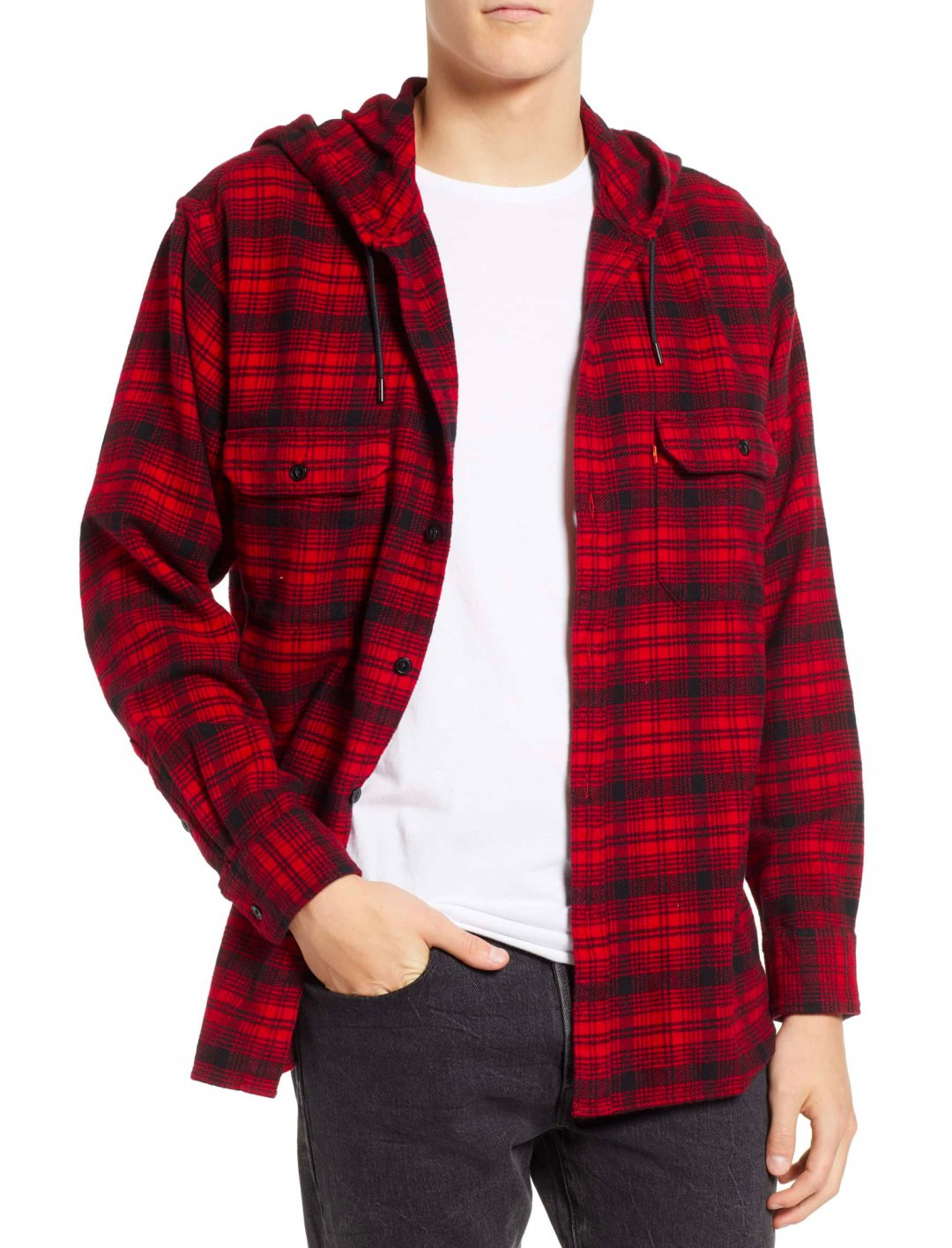 "Worker Shirt In Plaid {""id"":5,""product_section_id"":1,""name"":""Clothing"",""order"":5} Levi's X Justin Timberlake"