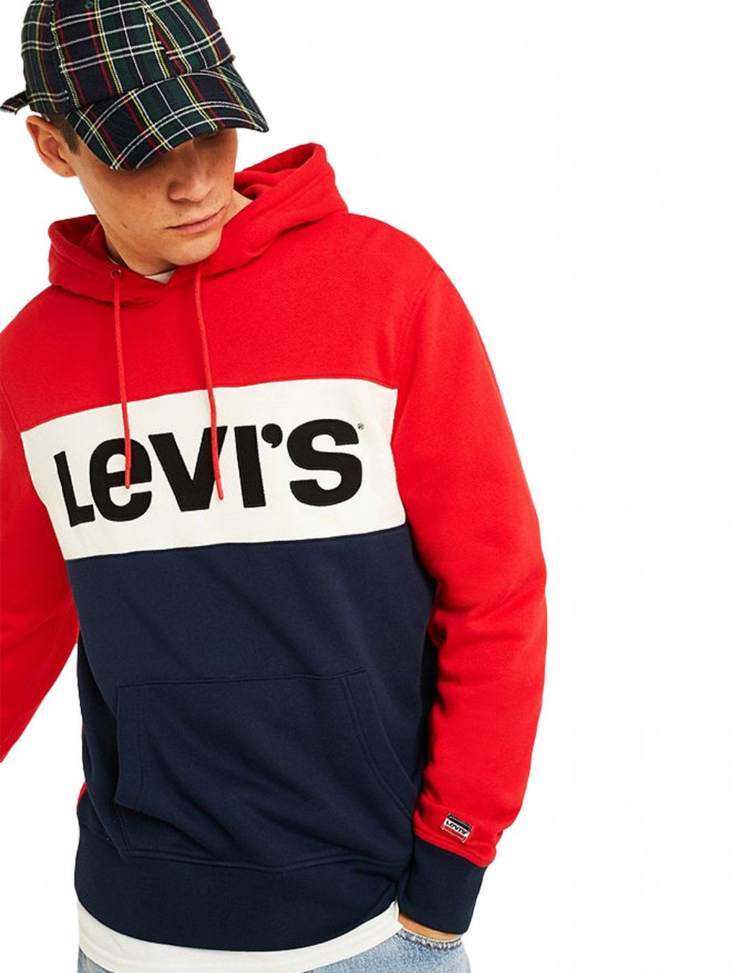 "Levi's Block Hoodie {""id"":5,""product_section_id"":1,""name"":""Clothing"",""order"":5} Levi's"