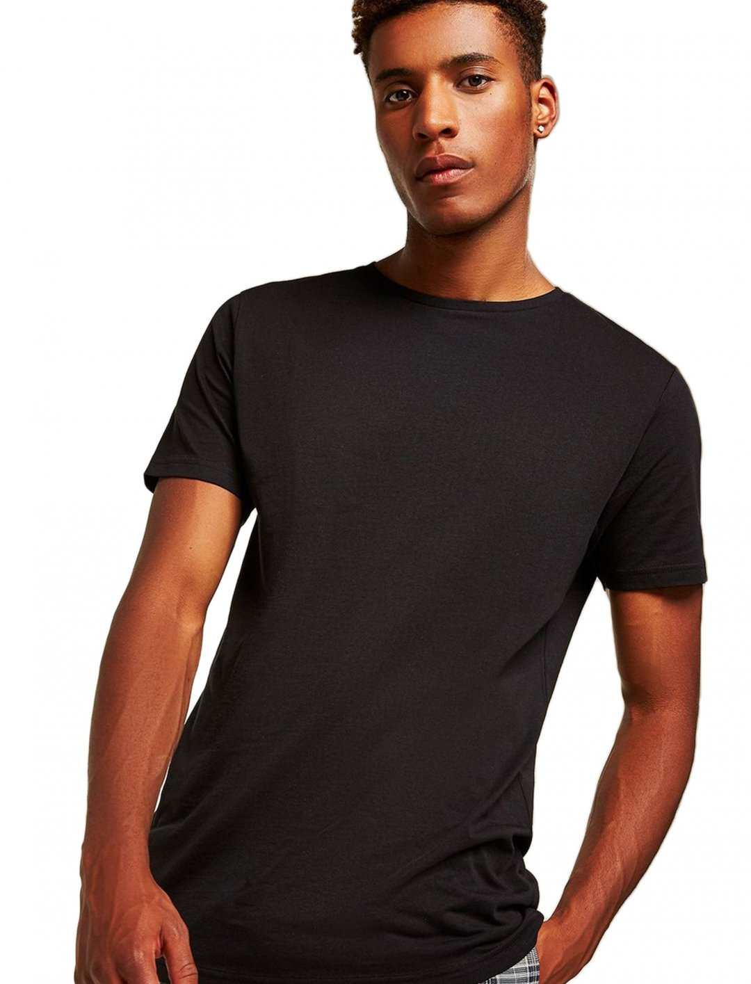 "Black Longline T-Shirt {""id"":5,""product_section_id"":1,""name"":""Clothing"",""order"":5} Topman"