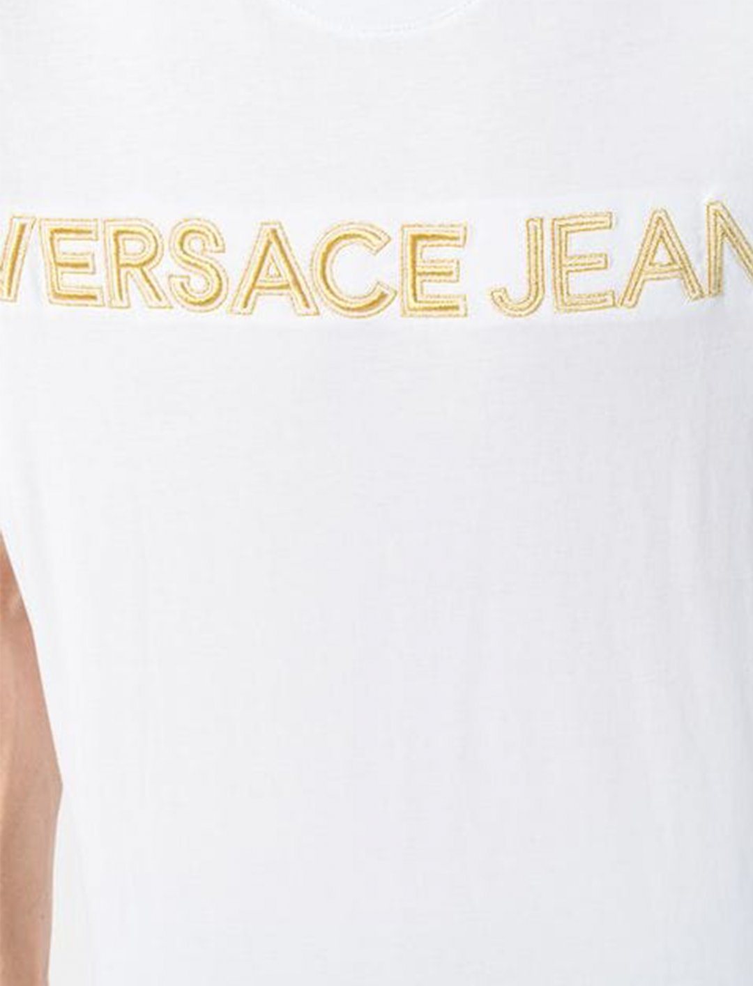 """Logo Embroidered T-Shirt {""""id"""":5,""""product_section_id"""":1,""""name"""":""""Clothing"""",""""order"""":5} Versace Jeans"""