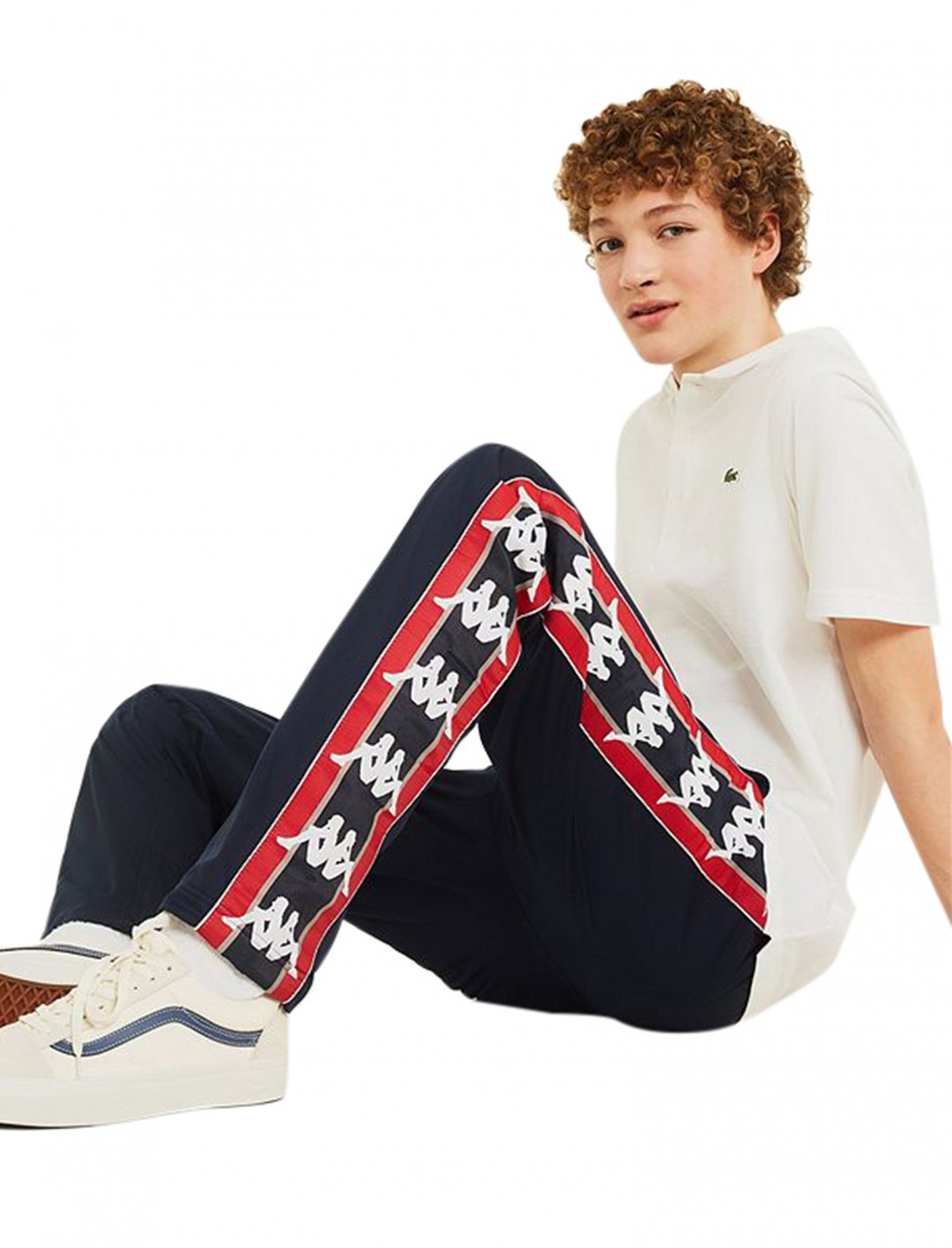 """Navy Logo Track Pants {""""id"""":5,""""product_section_id"""":1,""""name"""":""""Clothing"""",""""order"""":5} Kappa"""
