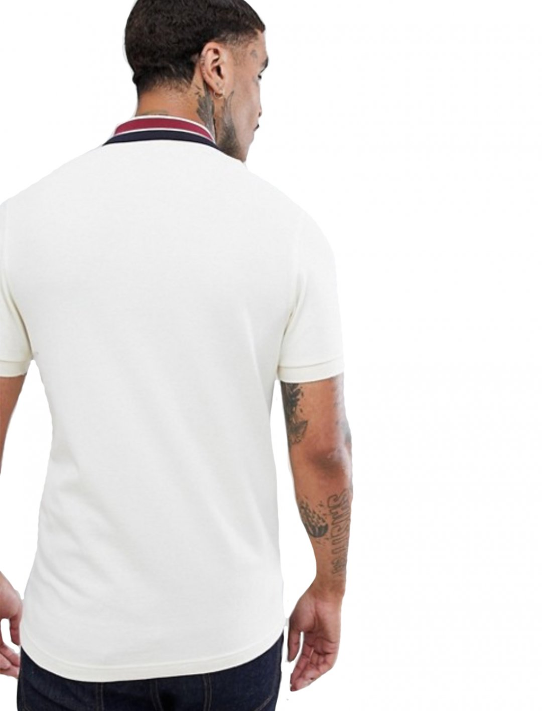 """Off White Polo {""""id"""":5,""""product_section_id"""":1,""""name"""":""""Clothing"""",""""order"""":5} Fred Perry"""