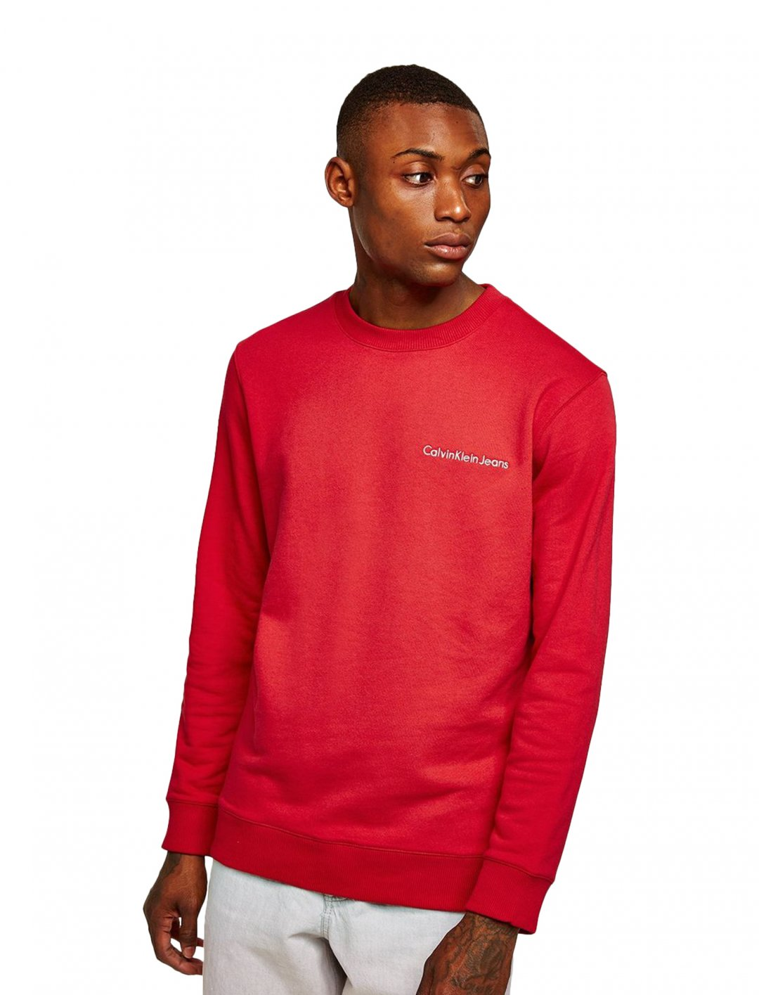 "Red 'Horos' Sweatshirt {""id"":5,""product_section_id"":1,""name"":""Clothing"",""order"":5} Calvin Klein Jeans"
