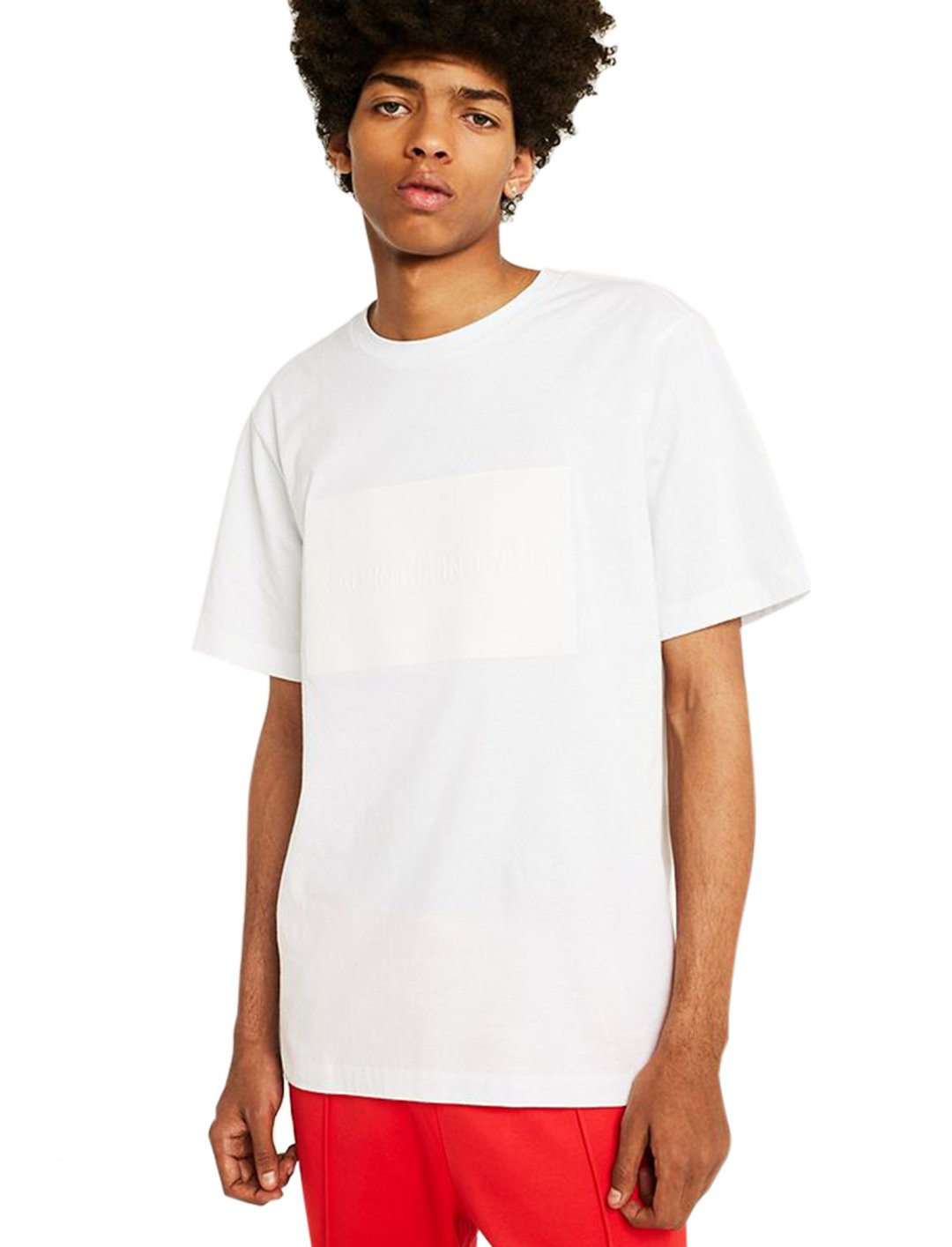 "Textured Logo T-Shirt {""id"":5,""product_section_id"":1,""name"":""Clothing"",""order"":5} Calvin Klein Jeans"
