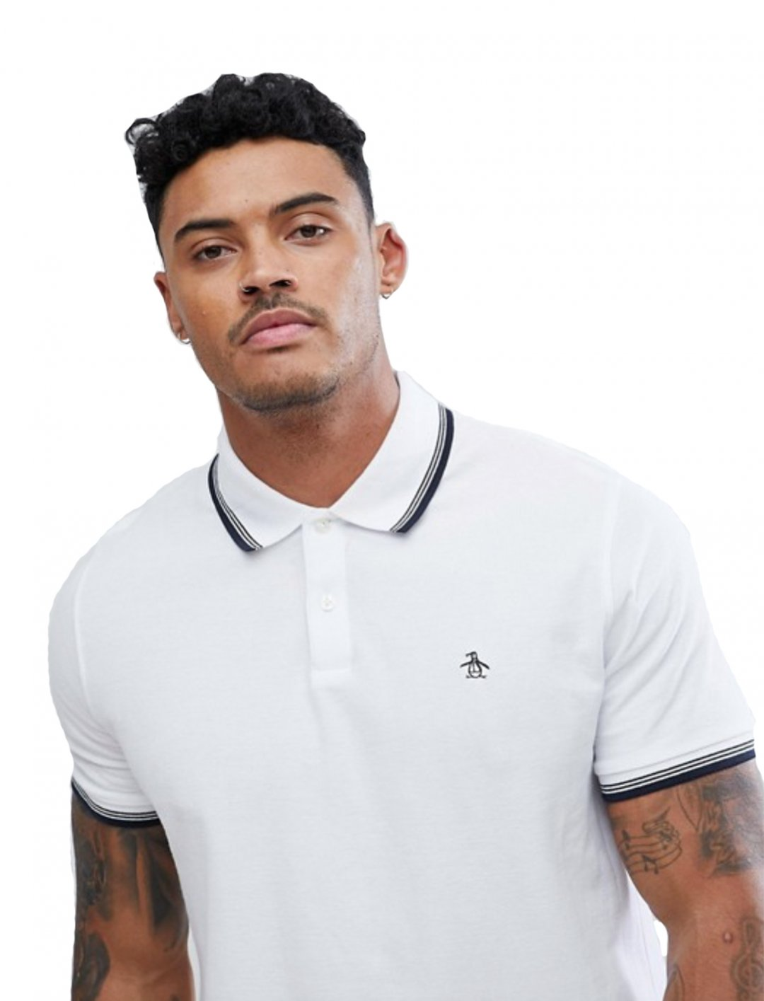 "White Polo Shirt {""id"":5,""product_section_id"":1,""name"":""Clothing"",""order"":5} Original Penguin"