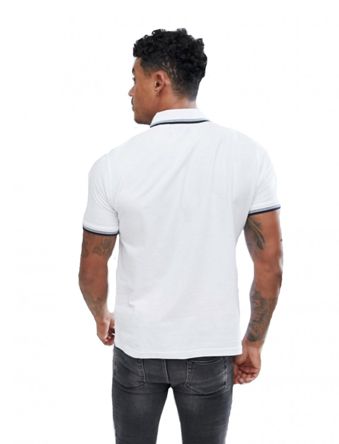 """White Polo Shirt {""""id"""":5,""""product_section_id"""":1,""""name"""":""""Clothing"""",""""order"""":5} Original Penguin"""