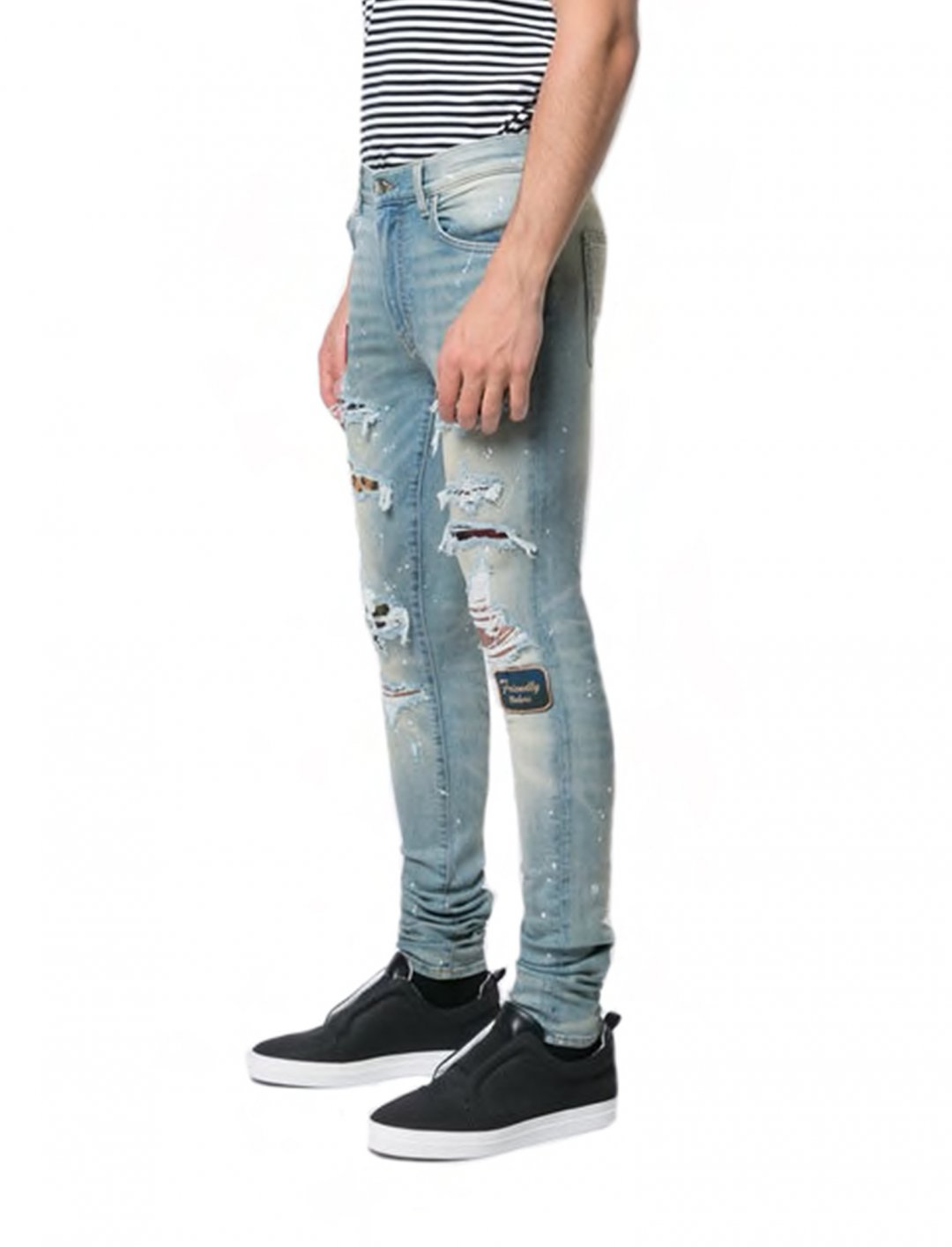 """Yungen's Distressed Skinny Jeans {""""id"""":5,""""product_section_id"""":1,""""name"""":""""Clothing"""",""""order"""":5} Amiri"""