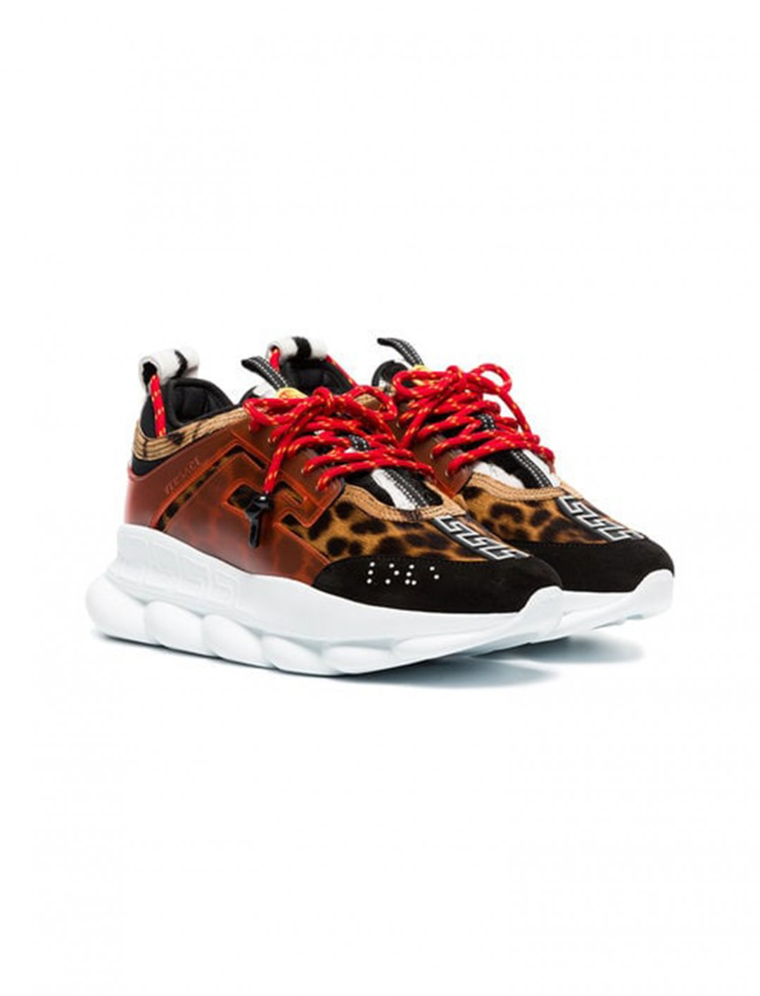 "Yungen's Leopard Print Sneakers {""id"":12,""product_section_id"":1,""name"":""Shoes"",""order"":12} Versace"