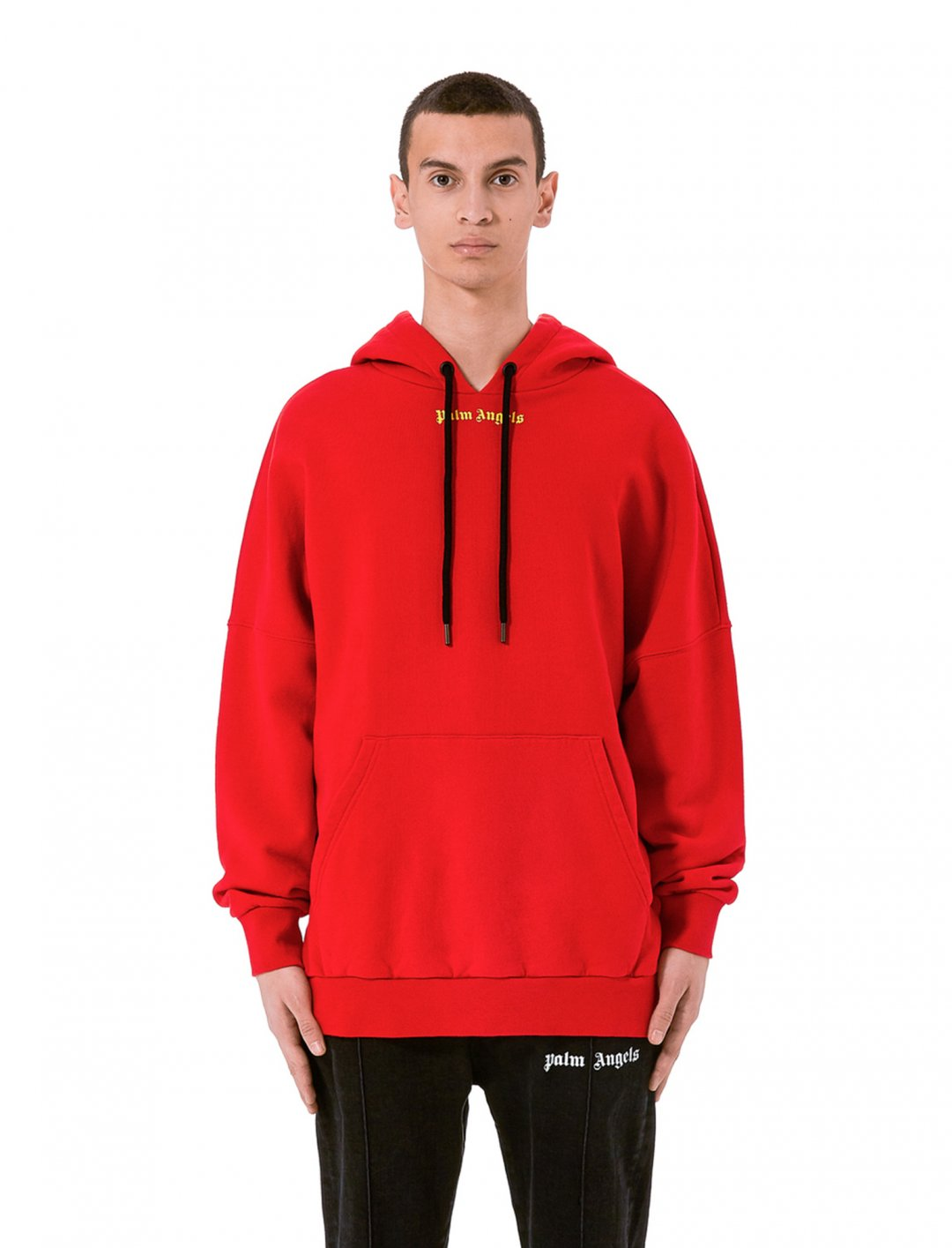 "Yungen's Red Hoodie {""id"":5,""product_section_id"":1,""name"":""Clothing"",""order"":5} Palm Angels"
