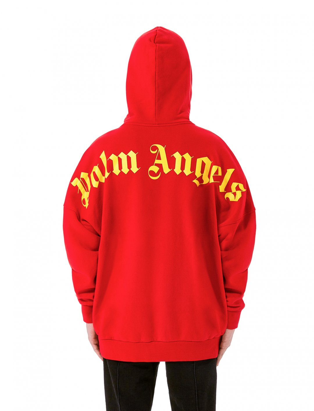 """Yungen's Red Hoodie {""""id"""":5,""""product_section_id"""":1,""""name"""":""""Clothing"""",""""order"""":5} Palm Angels"""