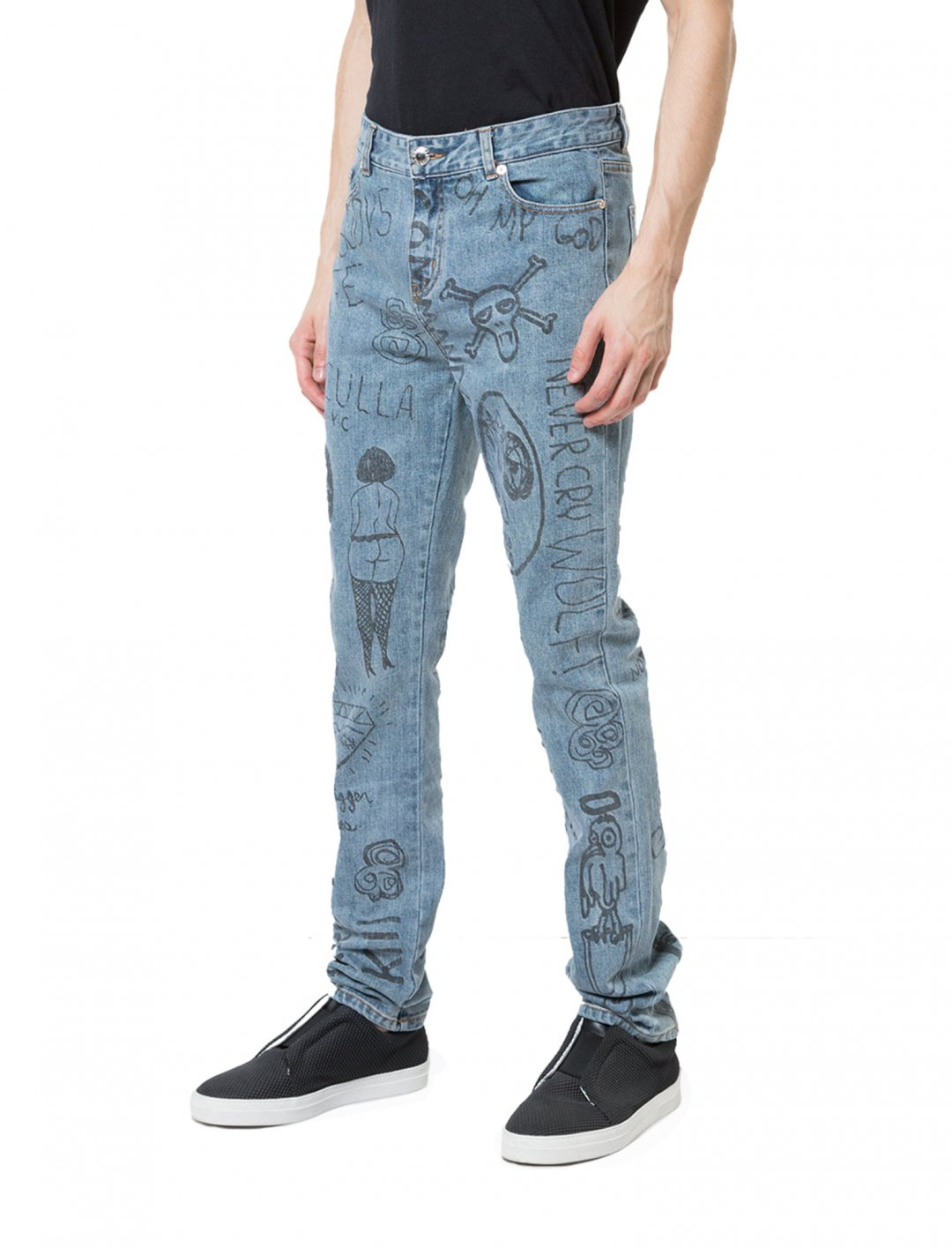 "Zayn's Mindful Doodles Jeans {""id"":5,""product_section_id"":1,""name"":""Clothing"",""order"":5} Haculla"