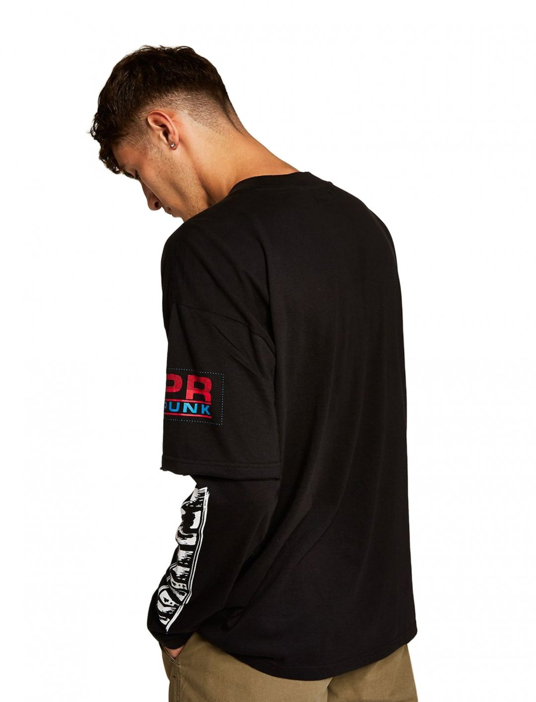 "Long Sleeve T-shirt {""id"":5,""product_section_id"":1,""name"":""Clothing"",""order"":5} Topman"