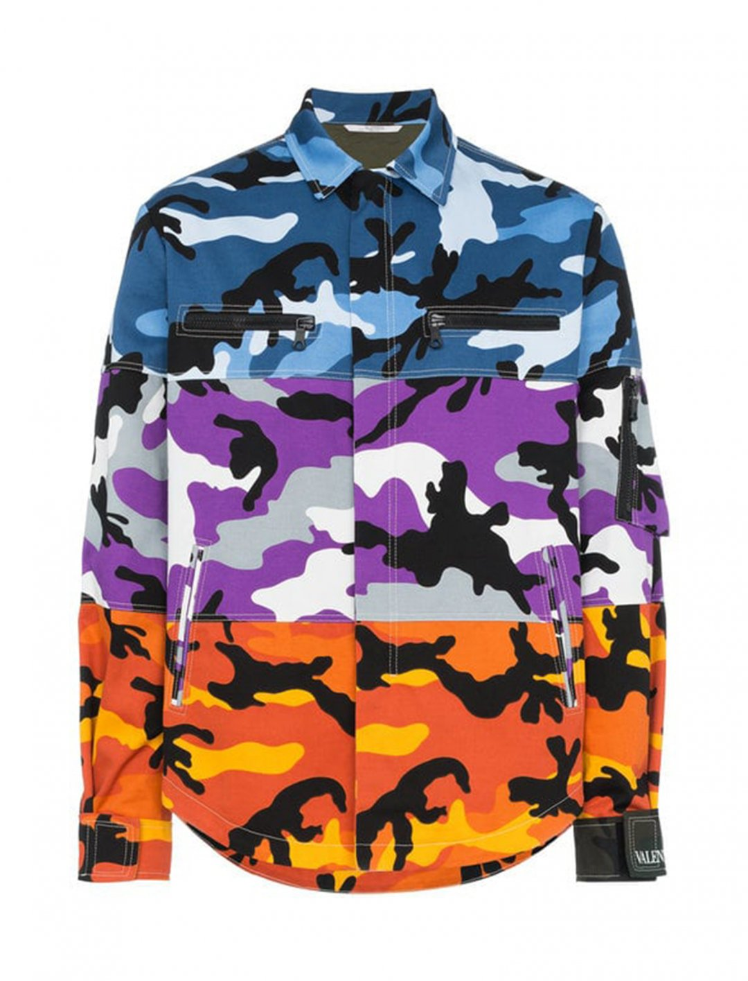 "B Young's Camo Print Shirt {""id"":5,""product_section_id"":1,""name"":""Clothing"",""order"":5} Valentino"