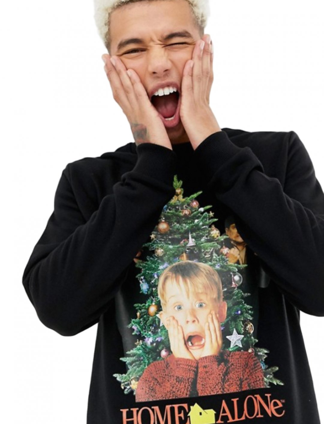 "Christmas Sweatshirt {""id"":5,""product_section_id"":1,""name"":""Clothing"",""order"":5} ASOS DESIGN"