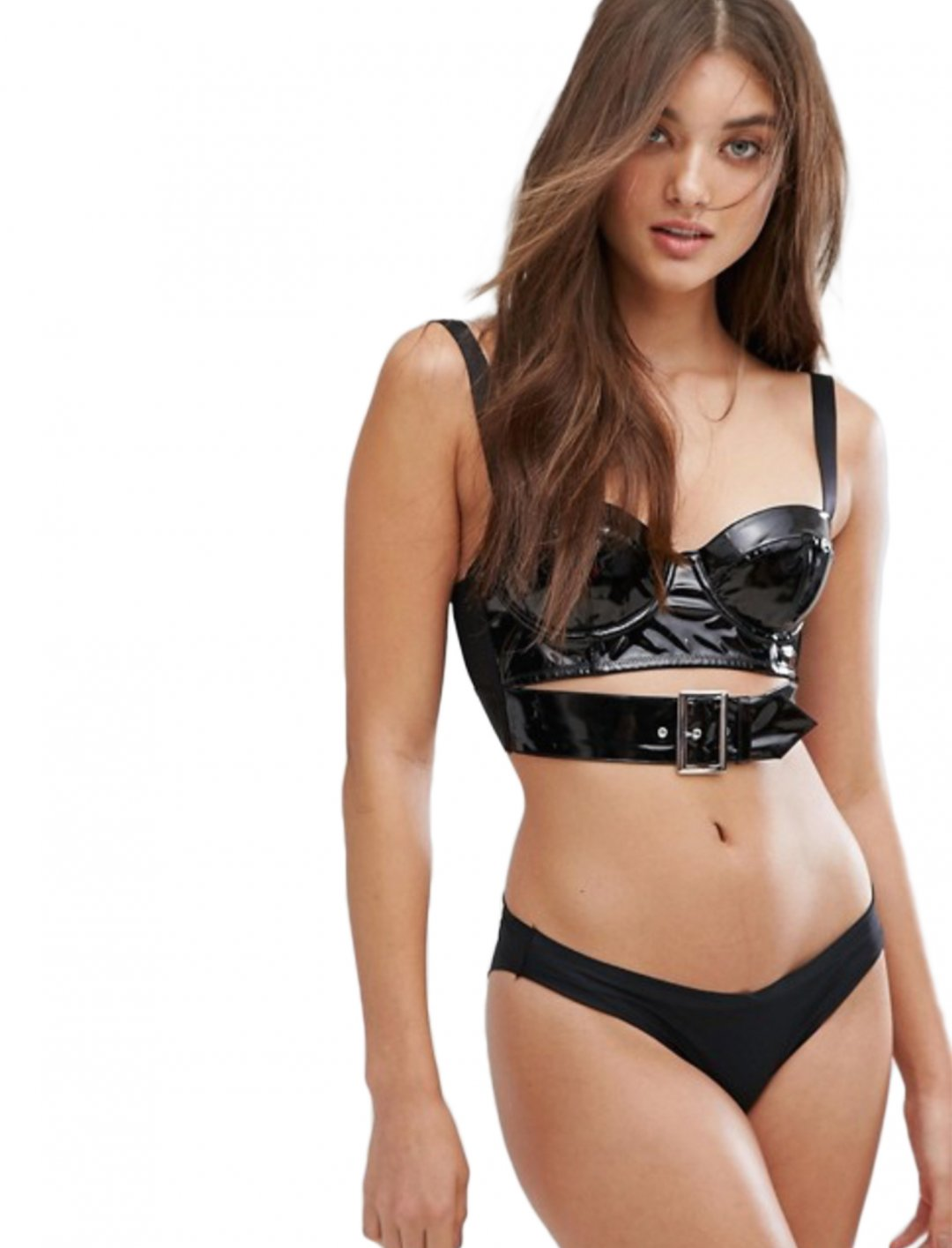 "Vinyl Bralet {""id"":5,""product_section_id"":1,""name"":""Clothing"",""order"":5} ASOS DESIGN"