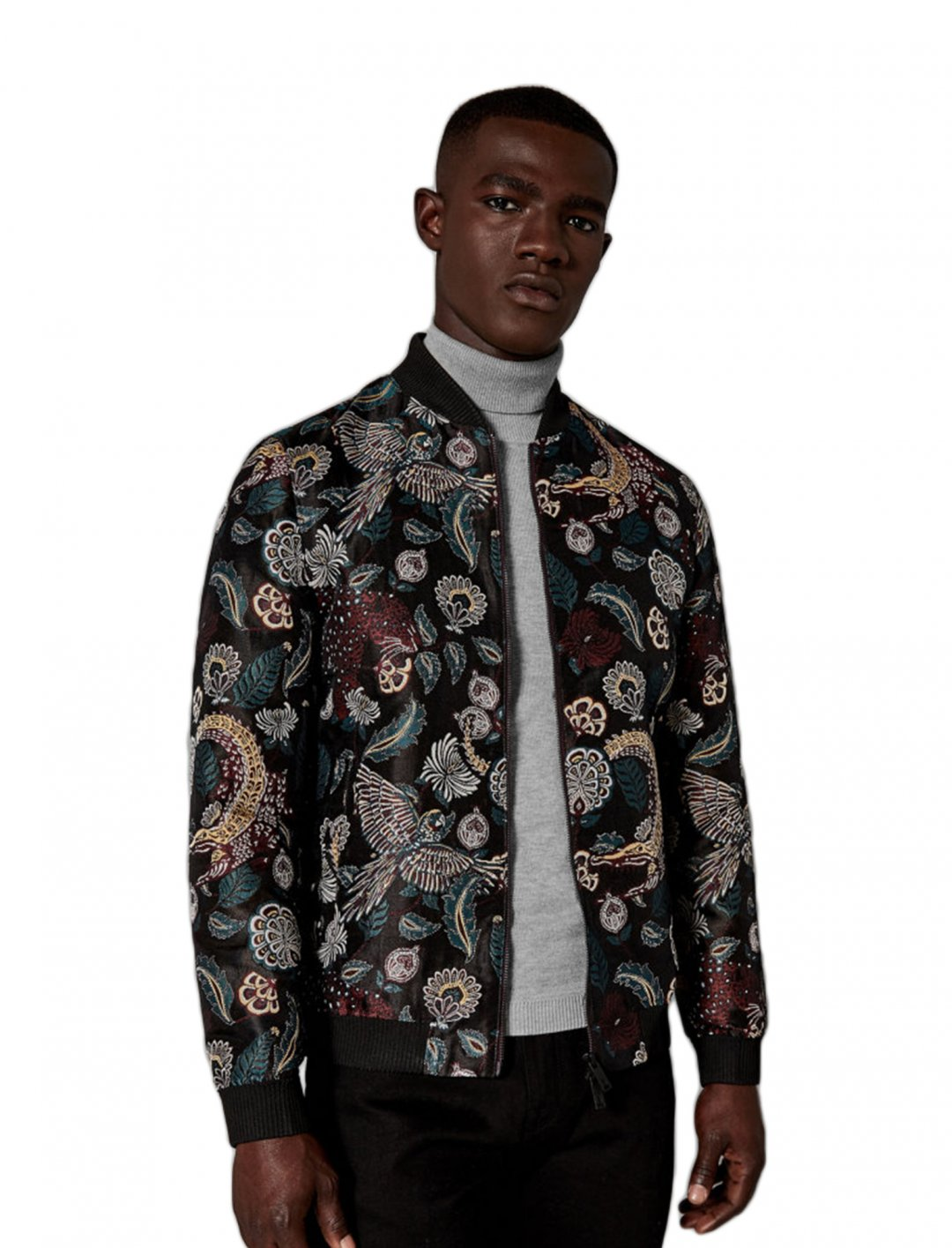 9eec02645 Bomber Jacket, With Tiger Jacquard from Ted Baker