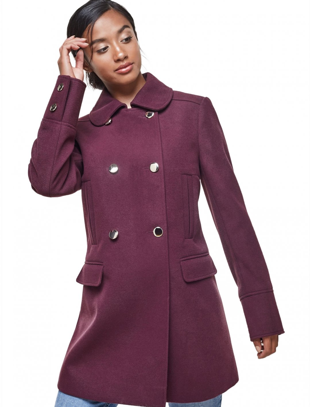 "Double Breasted Coat {""id"":5,""product_section_id"":1,""name"":""Clothing"",""order"":5} Miss Selfridge"