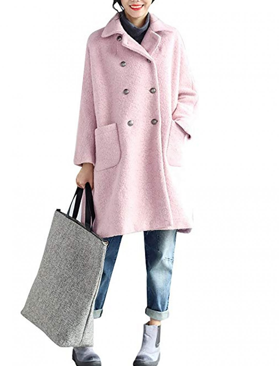 "Double-Breasted Coat {""id"":5,""product_section_id"":1,""name"":""Clothing"",""order"":5} Youlee"