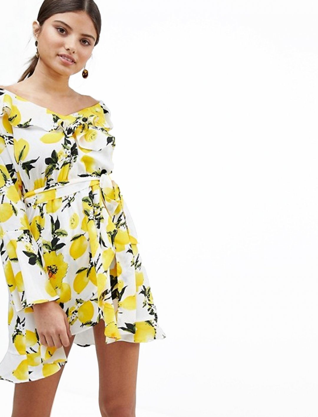 "Dress In Lemon Print {""id"":5,""product_section_id"":1,""name"":""Clothing"",""order"":5} boohoo"