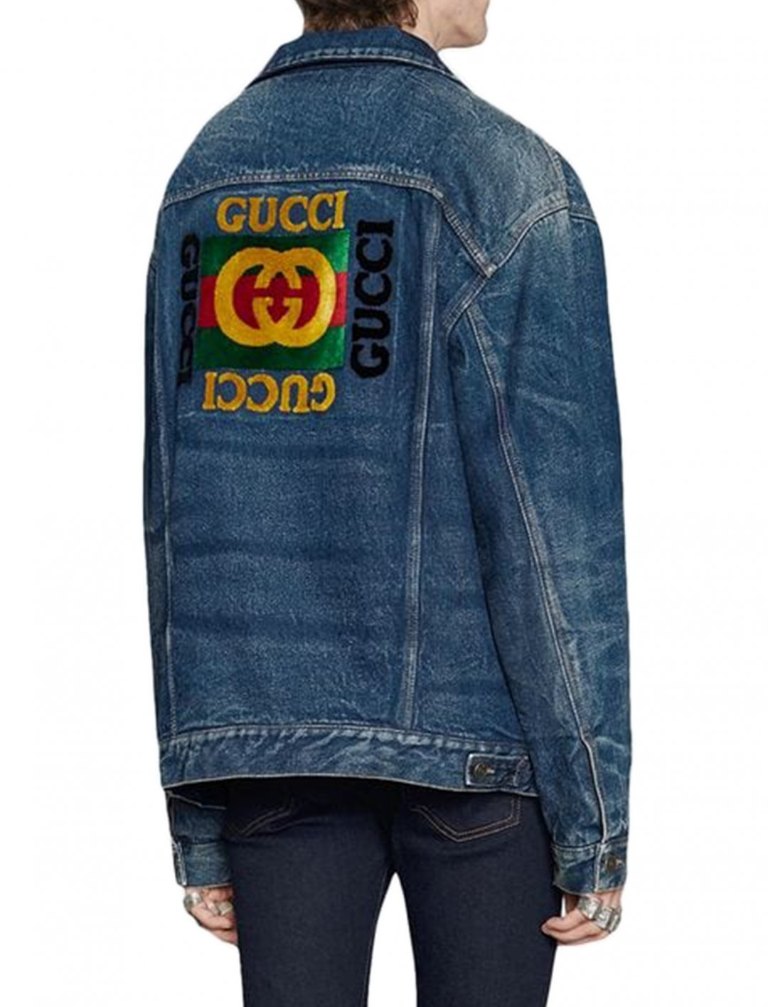 "Chris Brown's Denim Jacket {""id"":5,""product_section_id"":1,""name"":""Clothing"",""order"":5} Gucci"