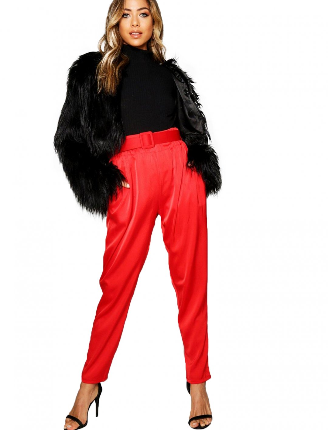 "Satin Trousers {""id"":5,""product_section_id"":1,""name"":""Clothing"",""order"":5} boohoo"