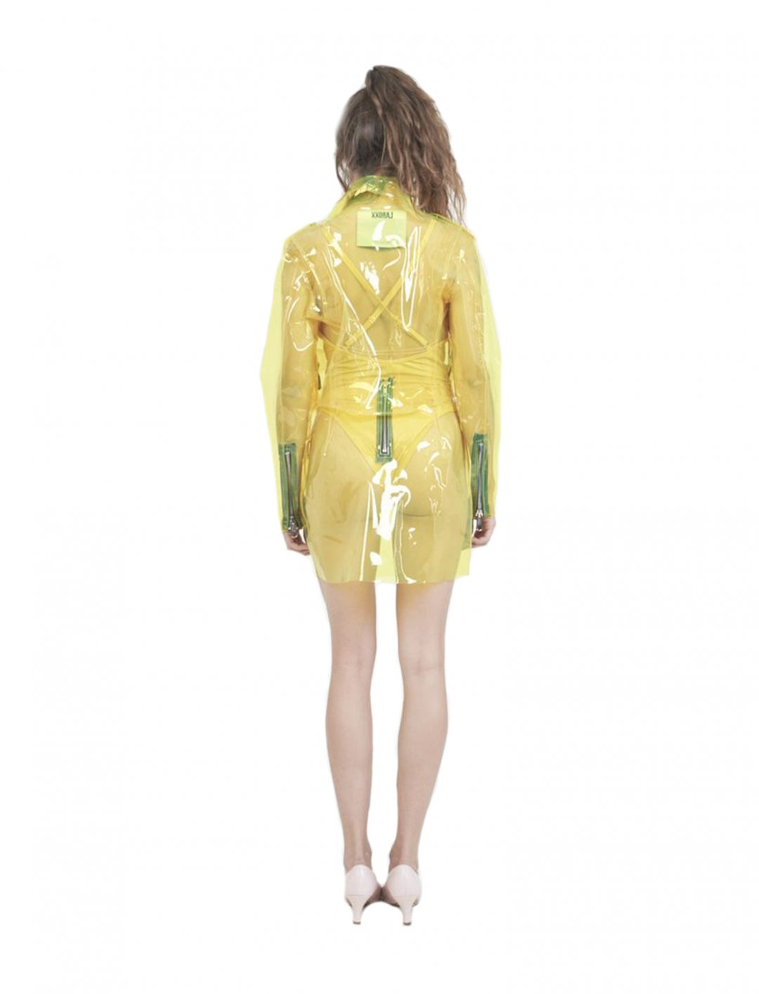 """Bebe Rexha's Clear Moto Jacket {""""id"""":5,""""product_section_id"""":1,""""name"""":""""Clothing"""",""""order"""":5} Laroxx"""